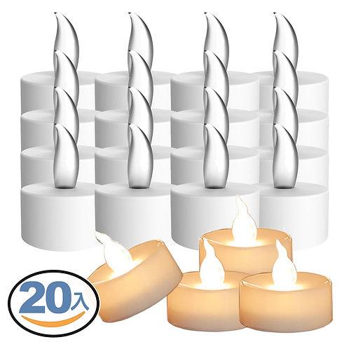 LED蠟燭燈 20入 小夜燈