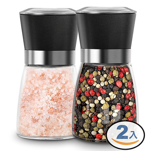 玻璃矮身胡椒罐/研磨罐/調味罐 2入組