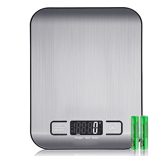 1g/5kg 不鏽鋼面板廚房料理秤 電子秤