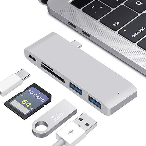 Type-C 五合一集線器 讀卡機 雙USB