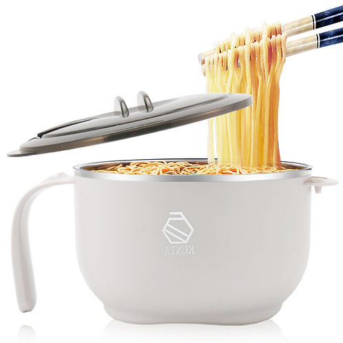 韓式304不鏽鋼泡麵碗1300mL 附保鮮蓋 便當碗
