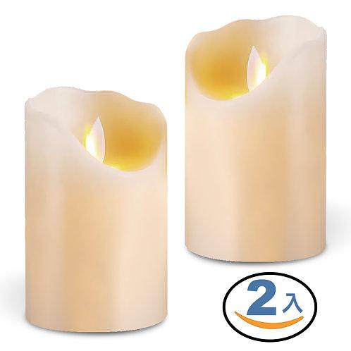 逼真LED蠟燭燈 2入組 (大根-7.5*15cm)