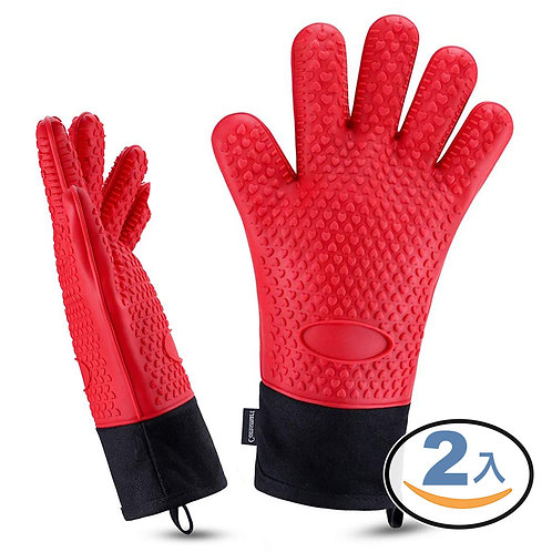 職人用加長隔熱手套 2入組 內鋪棉防燙手套