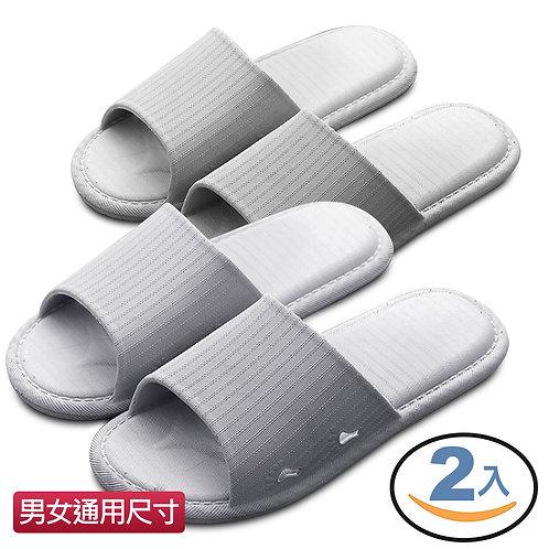 舒適加厚室內浴室防滑拖鞋 灰色 (男女尺寸) 2雙入
