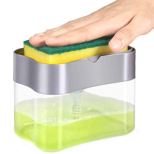 按壓自動給皂菜瓜布架 廚房收納