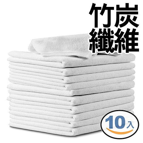 竹纖維吸水抹布 25*25cm 10入組(白色)