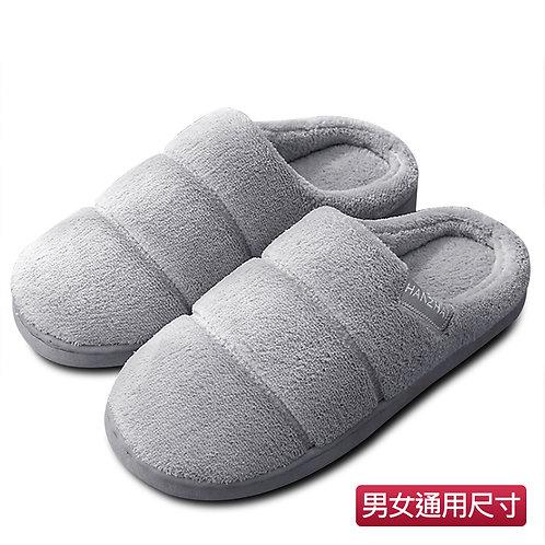 室內絨厚根拖鞋 灰色