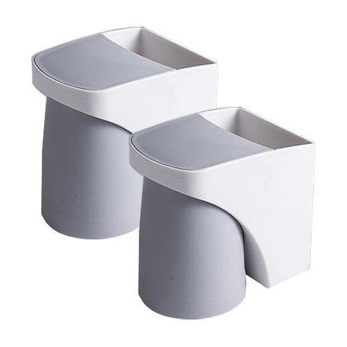 免打孔磁吸式漱口杯套裝 2入組 牙刷架 牙膏架 牙刷杯 浴室收納