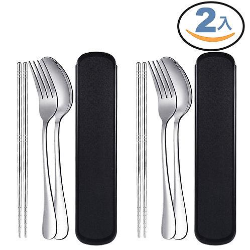 不鏽鋼餐具組(筷子+湯匙+叉子)
