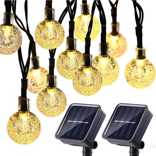 太陽能LED玻璃球燈串(暖光) 6.5米-30燈