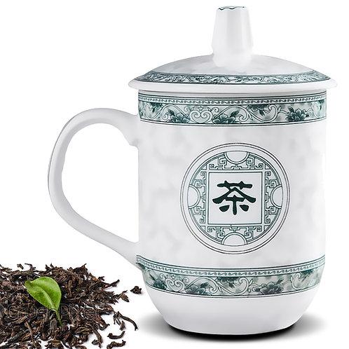 景德鎮帶蓋陶瓷杯 茶杯