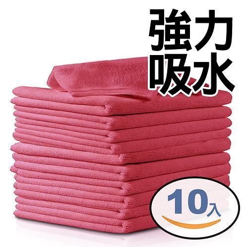 強力吸水廚房抹布 25*25cm 10入組(紅色)
