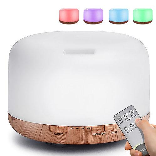 可調光夜燈木紋水氧機(可遙控) 500mL 加濕器 香薰機