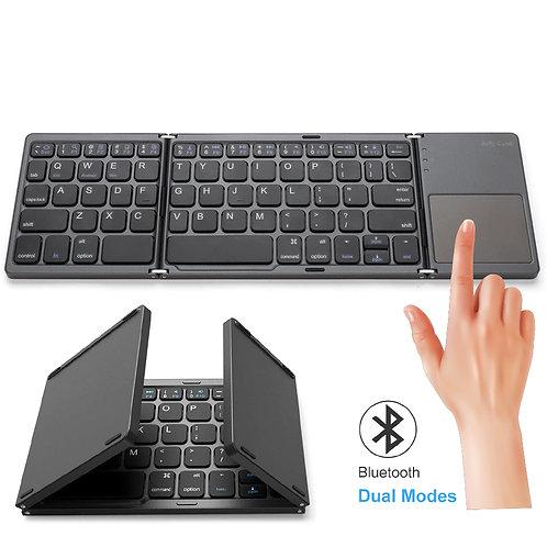 觸控面板無線折疊鍵盤 英文介面