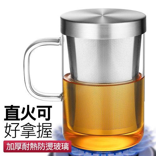 把手式玻璃泡茶杯 500mL