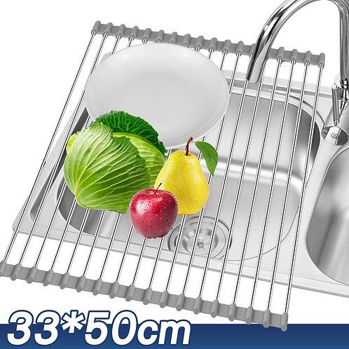 加大捲簾式碗盤瀝水架 33*50cm