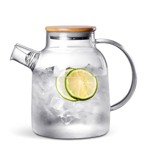 丹麥竹蓋胖身玻璃冷水壺 1800mL