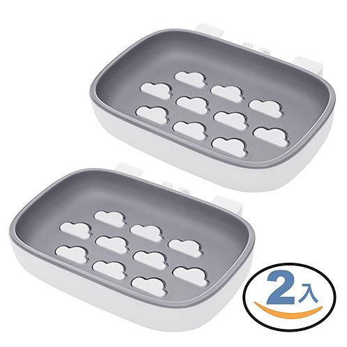 無痕貼雙層瀝水肥皂架 2入組 肥皂盒