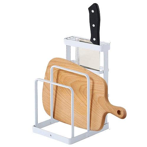 北歐鐵藝砧板架 刀架 廚房收納架