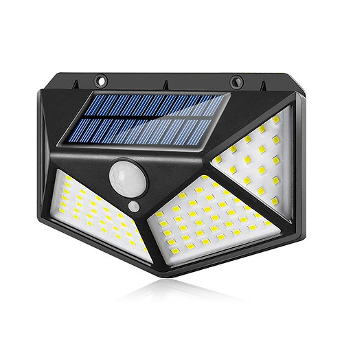 100LED防水太陽能感應燈 玄關燈 庭院燈