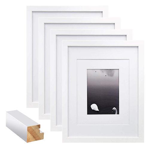 4X6簡約松木相框 白色 4入組