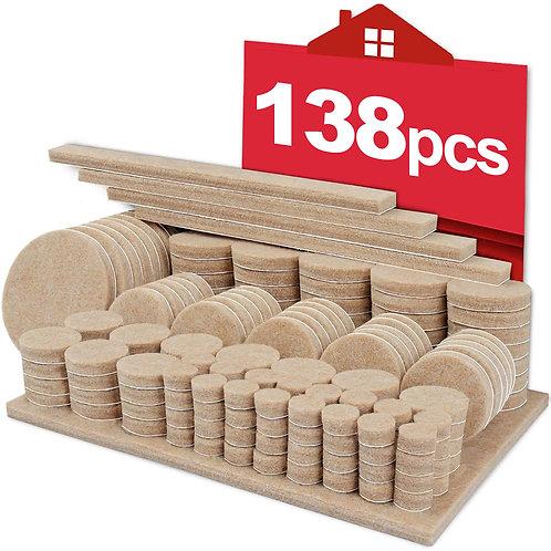 地板保護毛氈墊套裝 138片入 防刮墊 毛氈墊 防滑貼片