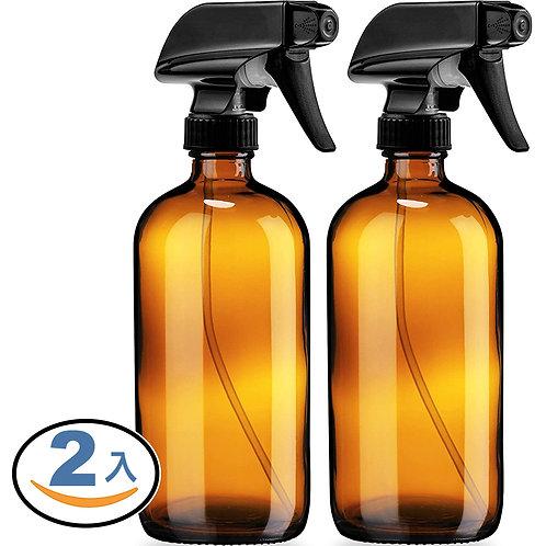 茶色玻璃噴霧瓶 500mL 2入組 噴瓶 分裝瓶