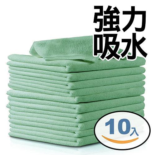 強力吸水廚房抹布 25*25cm 10入組(綠色)