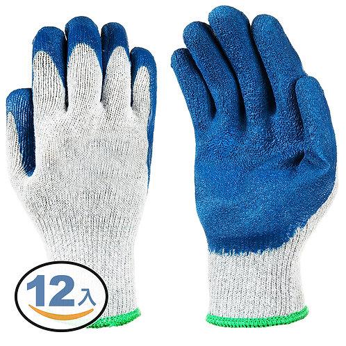 沾膠工作手套 12雙入 防磨手套 防割手套