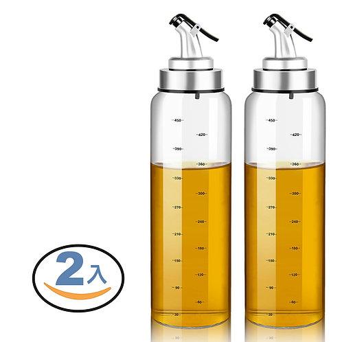 刻度定量玻璃油壺 180ml 2入組 油瓶