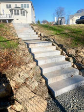 Stone Steps to Court
