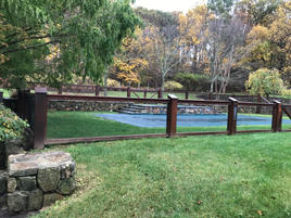 Wooden Fence & Retaining Wall