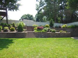 Retaining Wall, Steps, Patio