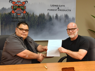 Quatsino First Nations and Lions Gate Forest Products Announce Joint Venture in Forest Management