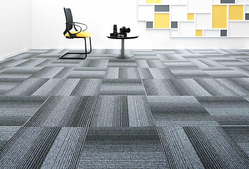 Commercial office floor carpet tiles