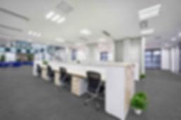 Commercial office floor carpet tiles