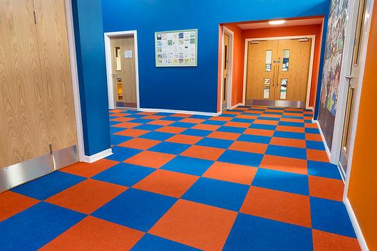 Contract flooring school carpet tiles
