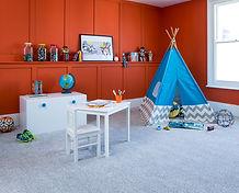 Contract carpet flooring bedroom