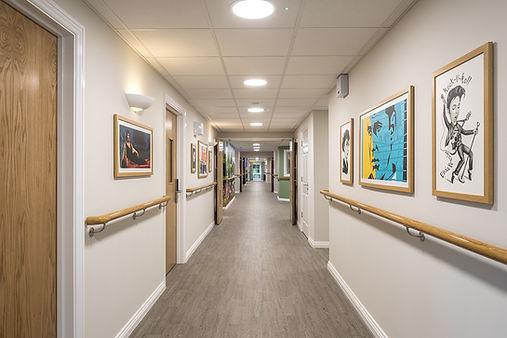 Safety Flooring hallway care home