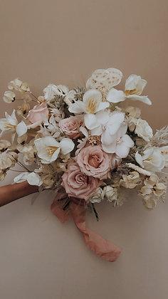 Bouquet fleurs fraiches & séchées