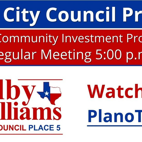 Plano City Council Preview - July 28, 2021 (Budget & CIP)