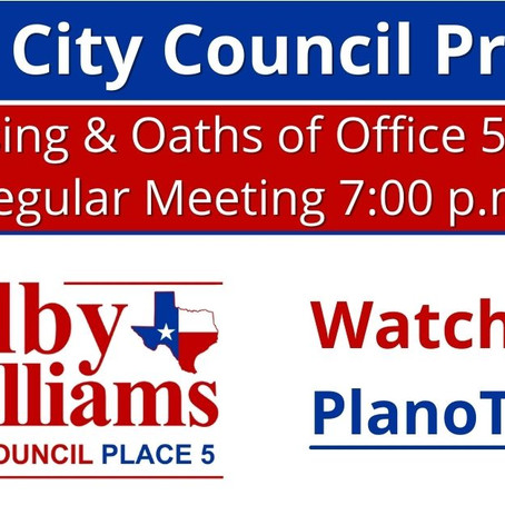 Plano City Council Preview - May 10, 2021