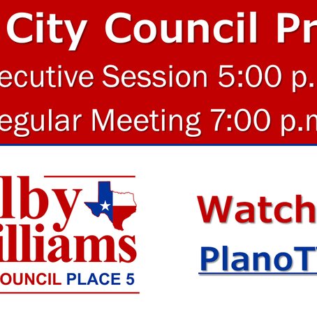 Plano City Council Preview - August 24, 2020