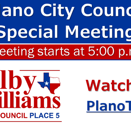Special Joint Meeting of Plano City Council and Planning & Zoning - August 5, 2020