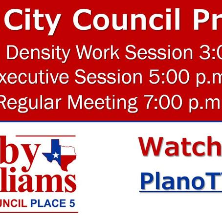Plano City Council Preview - November 9, 2020