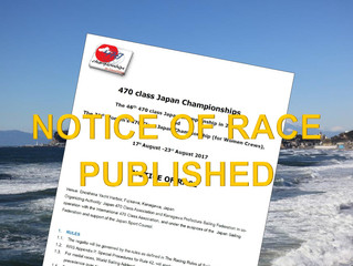 NOTICE OF RACE (2018) PUBLISHED