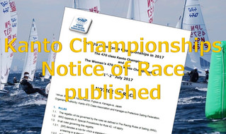 Kanto Championships 2019 Notice of Race  published