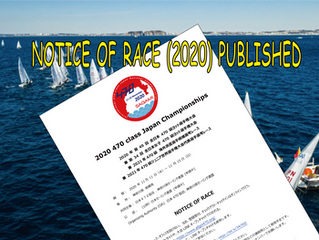 NOTICE OF RACE (2020) PUBLISHED