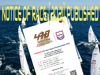 NOTICE OF RACE (2021) PUBLISHED