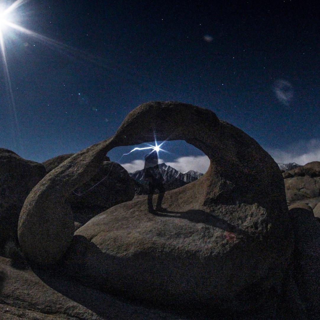 Third Eye glowing at Mt. Whitney